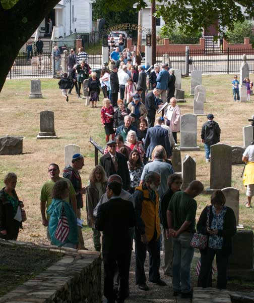 Visitors Flood Cemetery